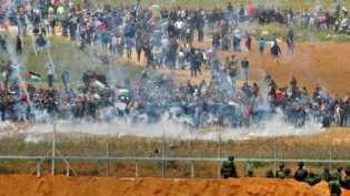 Hari pertama unjuk rasa warga Palestina di Gaza diwarnai korban jiwa