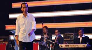 Jokowi undang para relawan makan seafood di Istana