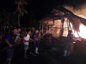 113 Kios di Pasar PT Pulau Sambu Guntung Inhil Terbakar