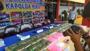 Kapolda Riau Pagi Ini Gelar Ekspose Penangkapan 55 Kilogram Sabu sabu