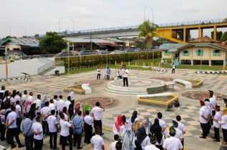 Dispar Riau Gelar Sertijab di Halaman Rumah Singgah Tuan Kadi