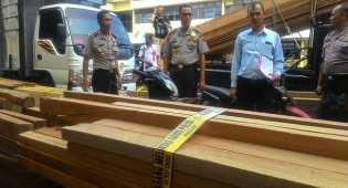 Polisi Aceh sita 27 kubik kayu diduga hasil illegal logging