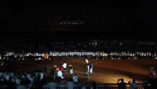 Lampu Mobil Dinas Terangi Pelantikan Pejabat Eselon III dan IV di Stadion Utama
