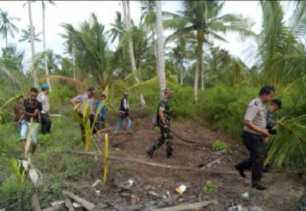 Anggota Koramil 08/Mandah Babinsa dan Bhabinkamtibmas Patroli Bersama Cegah Karhutla