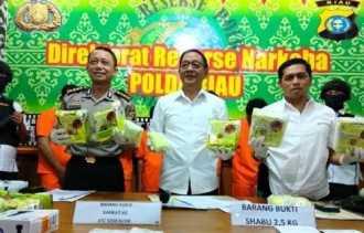 Dalam 3 Bulan Terakhir, Kepolisian di Riau Amankan 637 Tersangka Narkoba dan Sita 46 Kg Lebih Sabu s