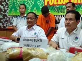 746 Jadi Tersangka, 55 Kilogram Sabu dan 10.732 Butir Ekstasi Disita Kepolisian di Riau 3 Bulan Tera