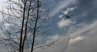 Water Bombing BNPB Padamkan 20 Titik Api di Dumai