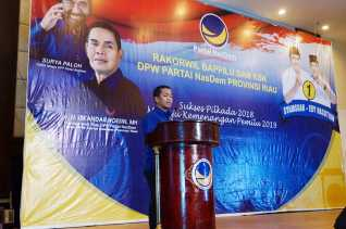 NasDem Riau Siap Tempur di Pemilu 2019, Ini yang Dilakukannya Untuk Para Caleg
