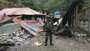 Konflik Papua: TNI disebut tembak warga yang kibarkan bendera merah putih
