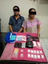 Parah !!!, Suami Istri Ini di Tangkap Bersama Belasan Paket Shabu