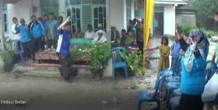Firdaus ST MT Mandi Hujan Saat Kampanye Dialogis