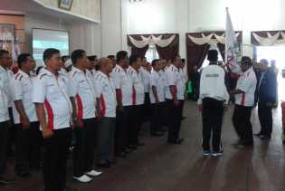Wabub Resmi Lantik Pengurus Asosiasi PSSI Kabupaten Rohil