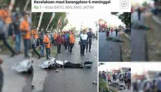 Begini Kronologi Kecelakaan Maut Tronton Tabrak Puluhan Kendaraan di Malang
