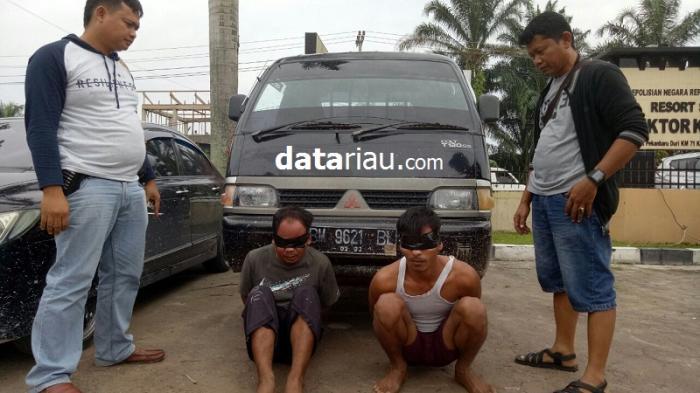 Polsek Pasir Penyu Ringkus Dua Pelaku Pencuri Mobil