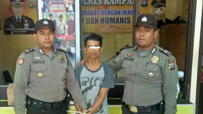Pukul Anggota Polisi, Warga Perhentian Raja Kampar Ditangkap di Jalan Raya Pekanbaru-Taluk Kuantan