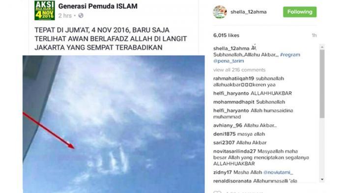 Demo Ahok, Lafadz Allah Muncul di Langit Jakarta