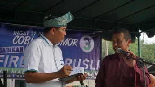 Doakan Firdaus Jadi Gubernur Riau, Mantan Kades di Rohul Ini akan Hibahkan Tanahnya untuk Dibangun S