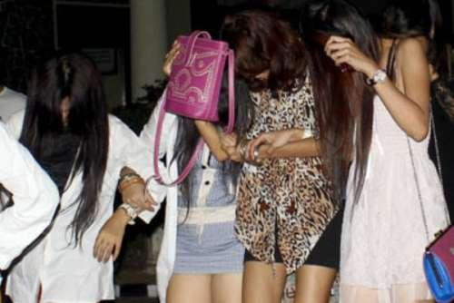 Sejumlah Wanita Malam di Jalan Sudirman Pekanbaru Terjaring Razia Satpol PP