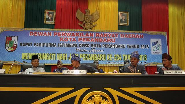 Paripurna Istimewa DPRD Kota Pekanbaru, Peringati Hari Jadi Kota Pekanbaru ke - 234